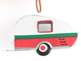"Wondershop Target 5"" Tin Camping Trailer With Wreath Christmas Ornament NEW 2018 image 4"