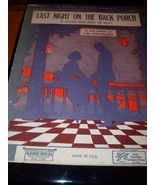 "Vintage Sheet Music ""Last Night on the Back Porch"" - $7.99"