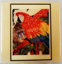 PARROT BABOON JUNGLE JONI ART TILE KENICHI INN HAWAII COSTA MESA CA. - $25.00