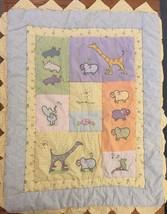 Carters Real Love John Lennon Baby Comforter Blanket Crib Quilt Animals ... - $28.98