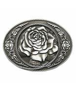 New Vintage Oval Rose Flower Western Belt Buckle Gurtelschnalle - $7.62