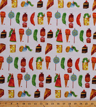 Food Cake Pie The Very Hungry Caterpillar Kids Cotton Fabric Print BTY D... - $12.49