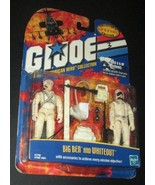 GI JOE 3 3/4 inch Figures BIG BEN & WHITEOUT, 2000 Hasbro, Mint on DAMAG... - $21.99