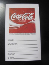 Lot Of 5 Coca-Cola Classic Name & Address Pads - Free Shipping - $5.94