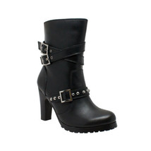 Women's 3-Buckle Boot Heel Bike Motorcycle Gear & Apparel by Daniel Smar... - $129.99