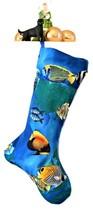 Tropical Fish Christmas Stockings, Handmade Lined Xmas Stocking - $17.00