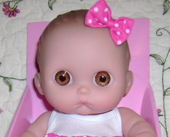 "NEW~Lil' Cutesies 8.5"" Baby Doll by Berenguer MIMI~Brown Eyes"