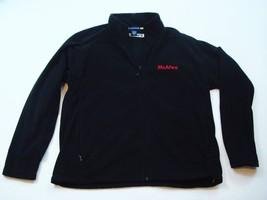 Mcafee Virus Reißverschluss Fleece Jacket Landmark Schwarz Größe L Herre... - $20.55