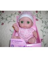 "NEW! Lil' Cutesies 8.5"" Baby Doll by Berenguer~BIBI Green Eyes - $14.99"