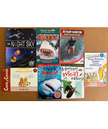 Lot of 7 Childrens Level 1 & 2 Reader Books • Sharks Insects Solar Syste... - $11.83
