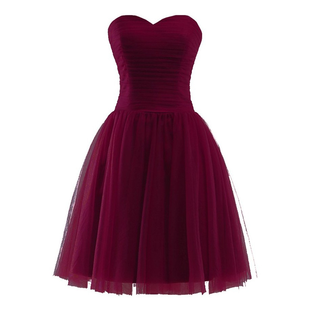 Off Shoulder Mini Prom Dresses Burgundy Homecoming Dresses Short Party Gowns