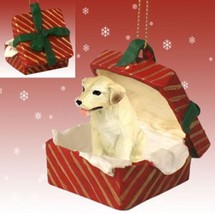 YELLOW LABRADOR RETRIEVER  LAB CHRISTMAS GIFT BOX ORNAMENT HOLIDAY Present - $14.95