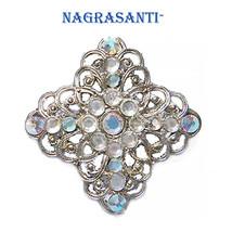 Nagrasanti ST Filigree Cross/Crystal Brooch - $24.00
