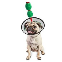 Bootique Dog Costume Dirty Puptini Martini Headpiece XS/S Olive Neck Col... - £15.66 GBP