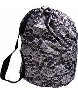 Teen Vogue Girls Handbag/Laundry Bag Tote Black Lace - $24.50