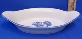 Pfaltzgraff Yorktowne Au Gratin Potato Side Dish Bowl Blue Flower Pattern - $10.88