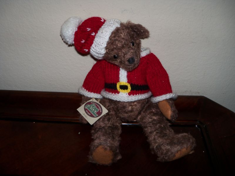 Primary image for Ganz Cottage Collectibles Teddy Bear Santa Suit Bernie