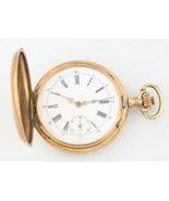 Remontoir 14k Oro Macizo 15-Jewel Antiguo Reloj de Bolsillo Talla 18 Ful... - $1,782.62
