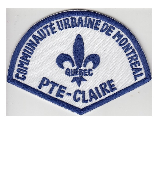 Real police department communaute urbaine pointe claire station retired patch 3.5 x 4.75 in 9.99