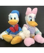 "Disney Store 17"" Plush Donald Duck and Daisy Duck Stuffed Animal Fuzzy - $39.59"