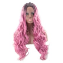 Ombre Color Synthetic Hair Wigs Long Hair 1B/Pink 24 inch Popular Style - $13.00