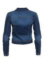 Stretch Denim Jacket, Denim Jacket, Dark Wash Denim Jacket, Stretch Jean Jacket image 2