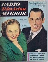 ORIGINAL Vintage July 1951 TV Radio Mirror Magazine Kate Smith Milton Berle - $23.19