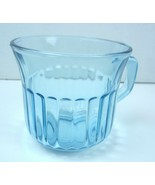 Vintage Fortecrisa Azure Ice Blue Ribbed Coffee or Tea Cup Mexico Forte ... - $5.01