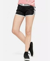Justice Girl's Size 12 Fold-over Mesh Shorts in Black New with Tags - $9.89