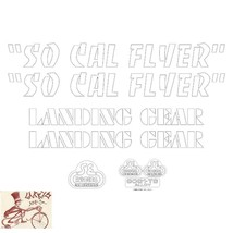 SE BIKES SO CAL FLYER WHITE STICKERS DECAL SET - $19.79