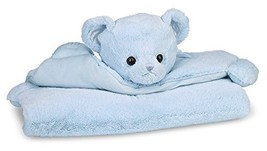 Bearington Baby Huggie Bear Belly Blanket, Blue Teddy Bear Plush Stuffed... - $34.78
