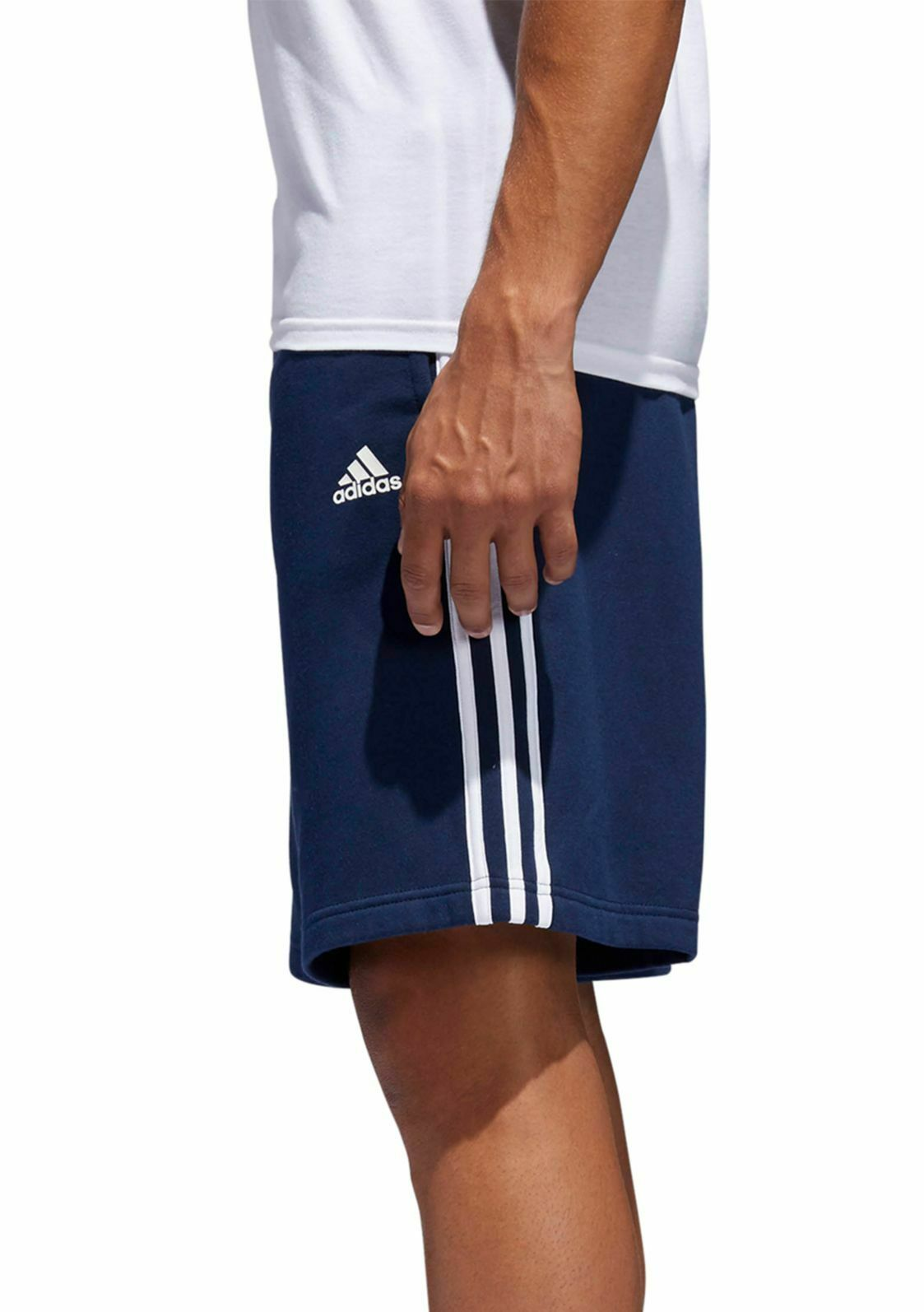 adidas navy fleece shorts