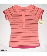 SO..so real..so right  Pinkish Orange Size Jr. Medium Tee Top NWT - $9.99