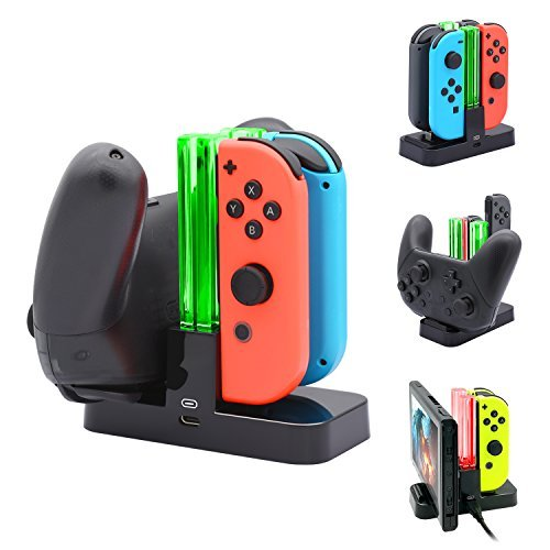 FastSnail Controller Charger for Nintendo Switch, Charging Dock Stand Station fo