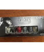 OPI Mini Nail Polish Lacquers Fift Shades of Grey 6 colors, great gift! - $14.99