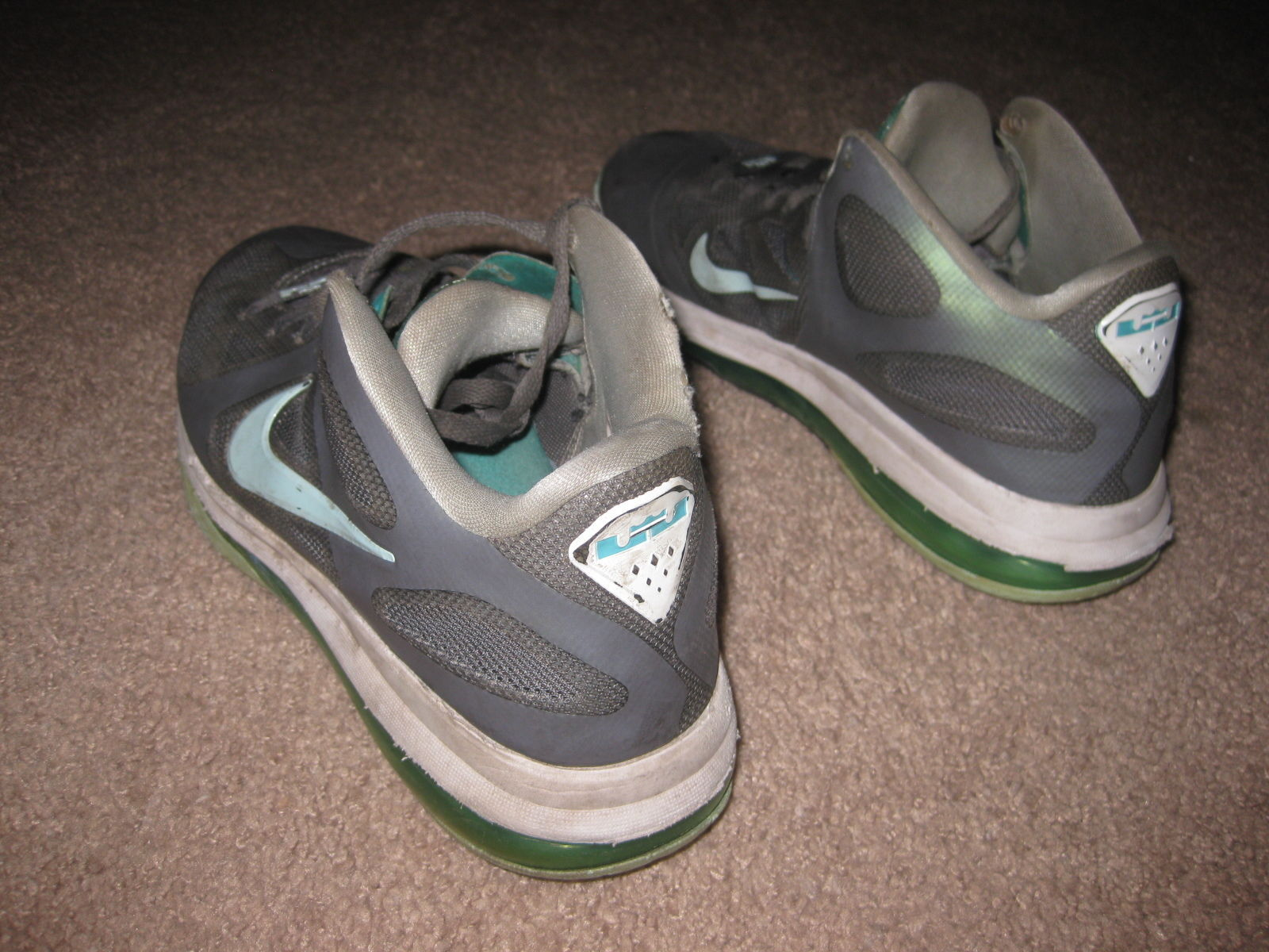 """2208237d82c NIKE Mens SIZE 9 LeBron 9 Low """"Easter"""" Basketball Shoes 510811-001 BEAT"""