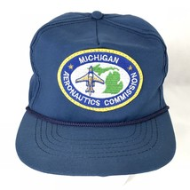 Michigan Aeronautics Commission Cap Hat Snapback Trucker Patch Made in USA - $23.75