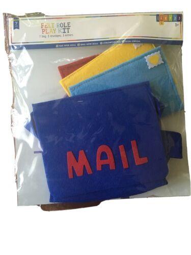 Felt Role Play Kit Postal Mail Carrier New 7 pcs Horizon Group Pretend play