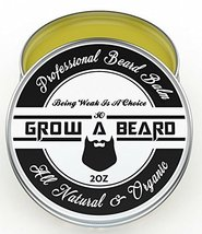 Beard & Mustache Balm and Oil Grooming Kit - All Natural And Organic Argan & Joj image 2
