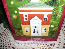 2000 Hallmark Ornament School House Nostalgic Houses Series MIB - $15.98