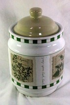 """Himark Savory Tyme Large Sugar Canister 8 1/2"""" - $11.08"""