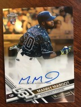 2017 Topps Chrome Manny Margot #RA-MM Rookie Baseball Card Auto Padres NM/M - $4.99