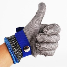 Safety Glove Cut Proof Stab Resistant Stainless Steel Metal Mesh Butcher... - $24.99