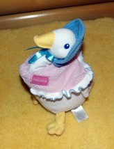 "Beatrix Potter Plush 9"" White Jemima PuddleDuck in Pink Shawl & Blue Bonnet - $6.29"