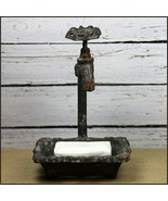 Water Faucet Cast Iron Soap Dish Rustic Country Bathroom Kitchen Farmhouse - $21.10