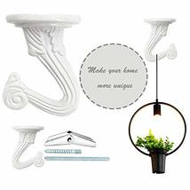 10 Sets Ceiling Hooks - Heavy Duty Swag Hook with Hardware for Hanging Plants Ce image 9