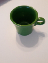 Fiestaware Green Coffee Mugs Lot of 2 Cup ring handle Fiesta Homer Laughlin - $10.99