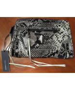 NWT REBECCA MINKOFF Mason Black Python Embossed Leather Clutch (MAKE AN ... - $217.80