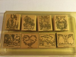 """Stampin' Up 1999 """"Feathered Friends"""" Set Of 8 Wood Block Stamps - $19.77"""
