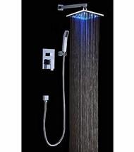 Cascada Luxury Bathroom Shower Set Rainfall LED Shower Head, Double-Func... - $435.55